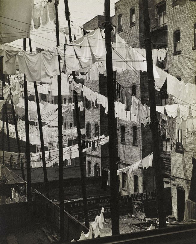 Consuelo Kanaga (1894-1978, born Astoria, Oregon) 'Untitled (Tenements, New York)' c. 1937