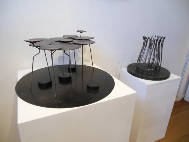 David Wood. 'Nardoo sentinels' (left) and 'Reed Rotunda' (right) 2013
