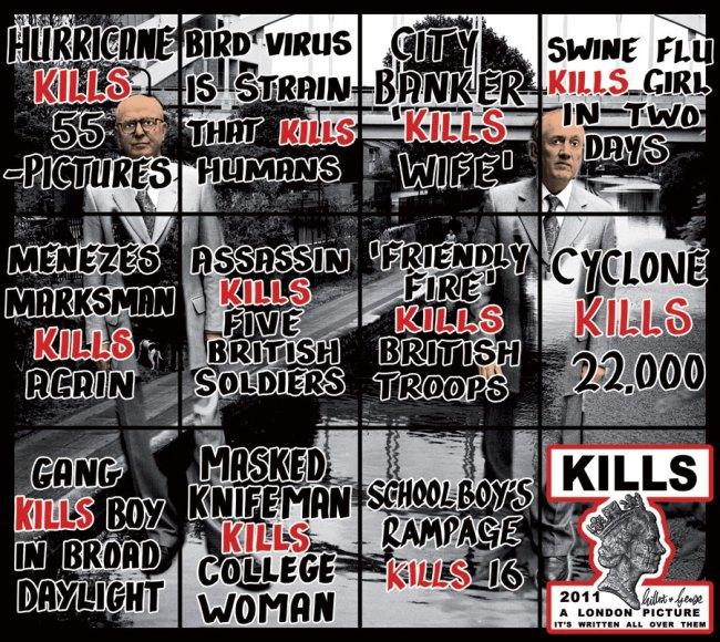 Gilbert & George. 'Kills' 2011