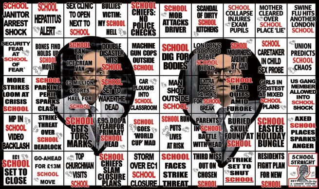 Gilbert & George. 'School Straight' 2011