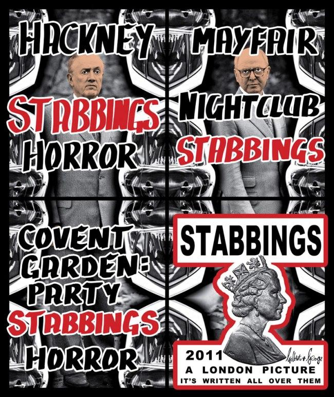 Gilbert & George. 'Stabbings' 2011