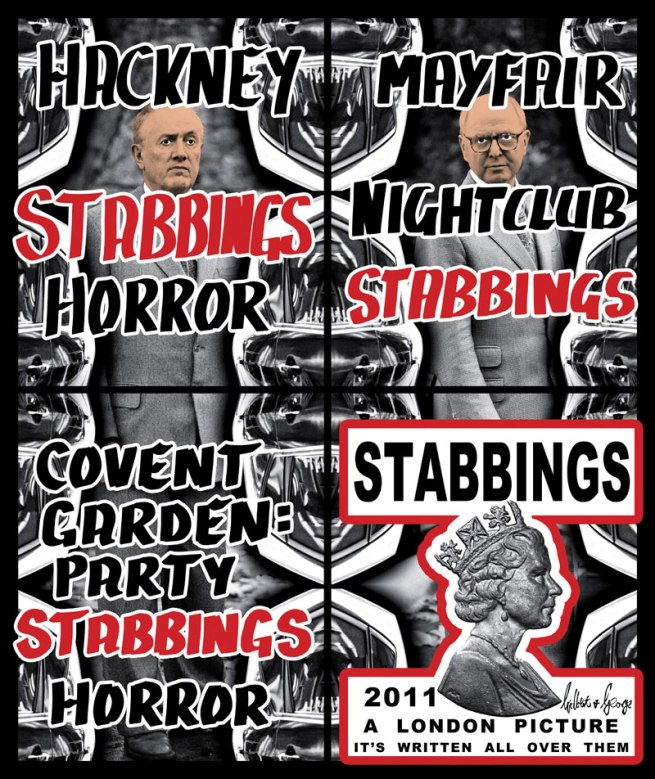 Gilbert & George. 'Stabbings' 2011
