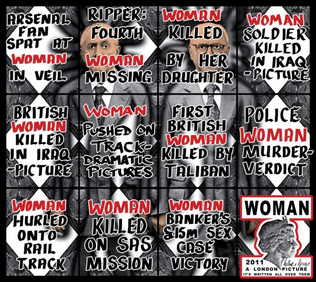 Gilbert & George. 'Woman' 2011