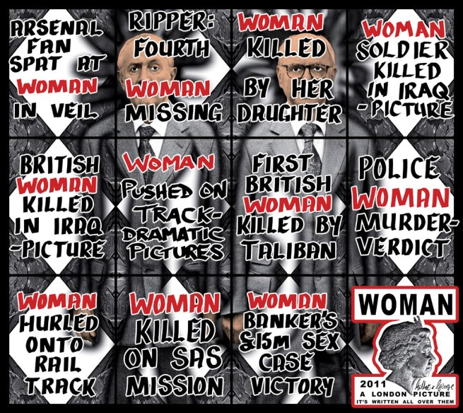 Gilbert & George. 'Woman' 2011