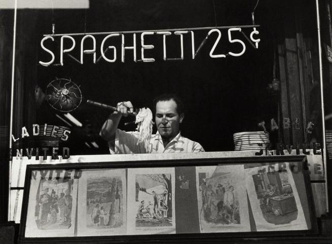 Ida Wyman (born 1926, Malden, Massachusetts) 'Spaghetti 25 Cents, New York' 1945