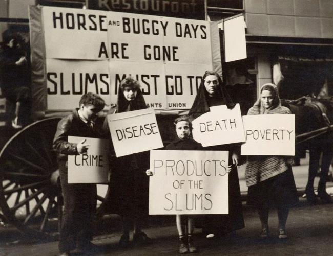 Joe Schwartz. 'Slums Must Go! May Day Parade, New York' c. 1936