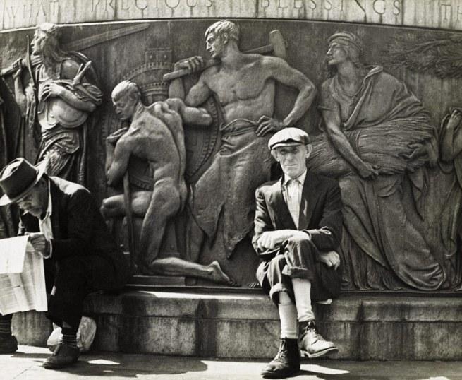 Morris Huberland (1909-2003, born Warsaw, Poland) 'Union Square, New York' c. 1942