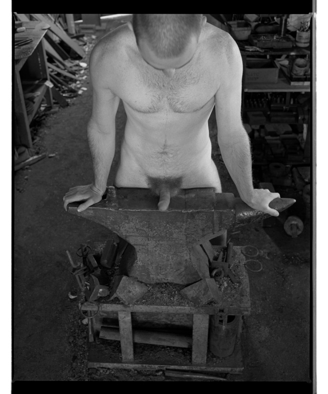 Marcus Bunyan. 'Paul, cock on anvil' 1994