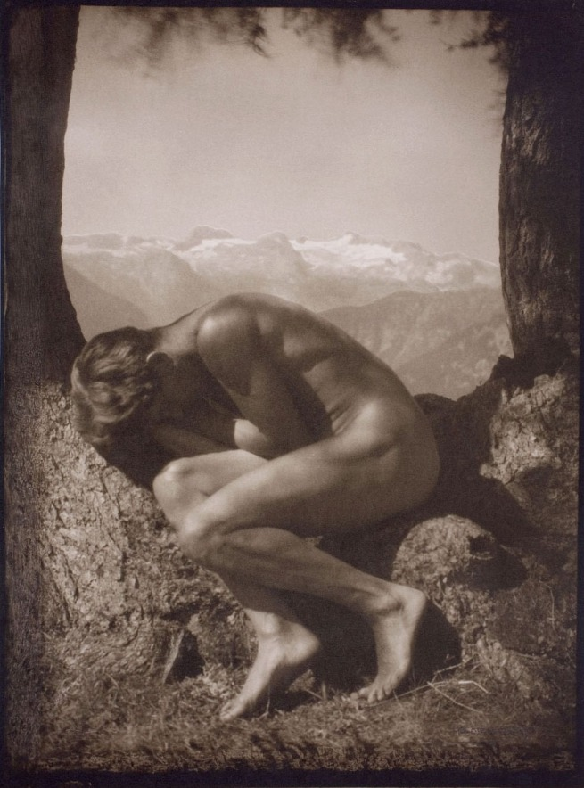 Rudolf Koppitz. 'In the lap of Nature' Self portrait c. 1923