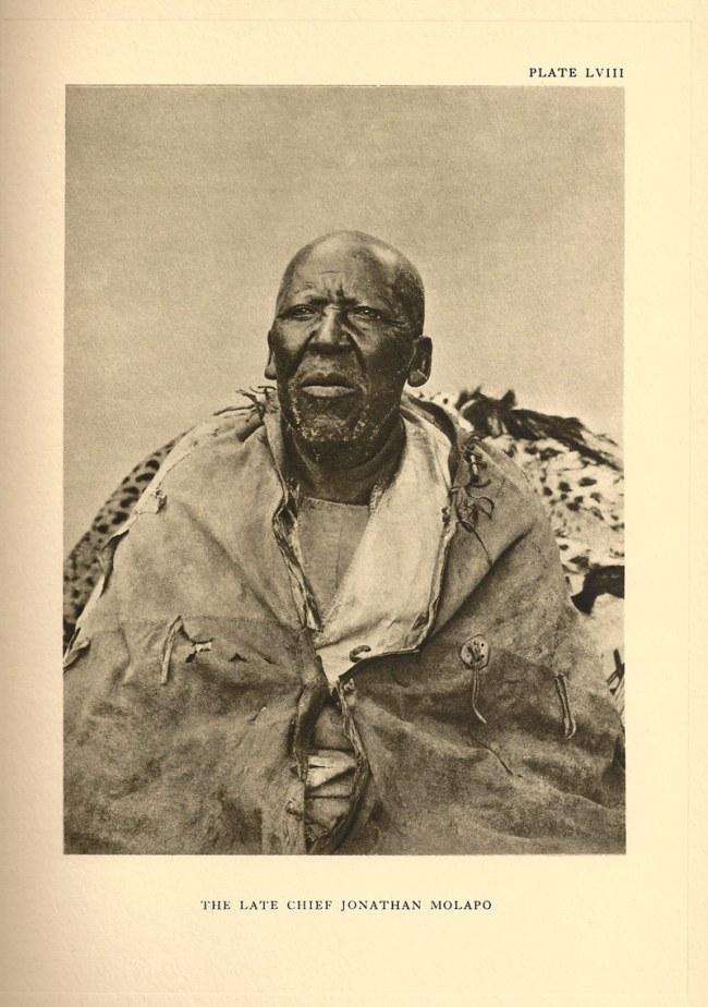 A.M. Duggan-Cronin. 'The Late Chief Jonathan Molapo' South Africa, early twentieth century