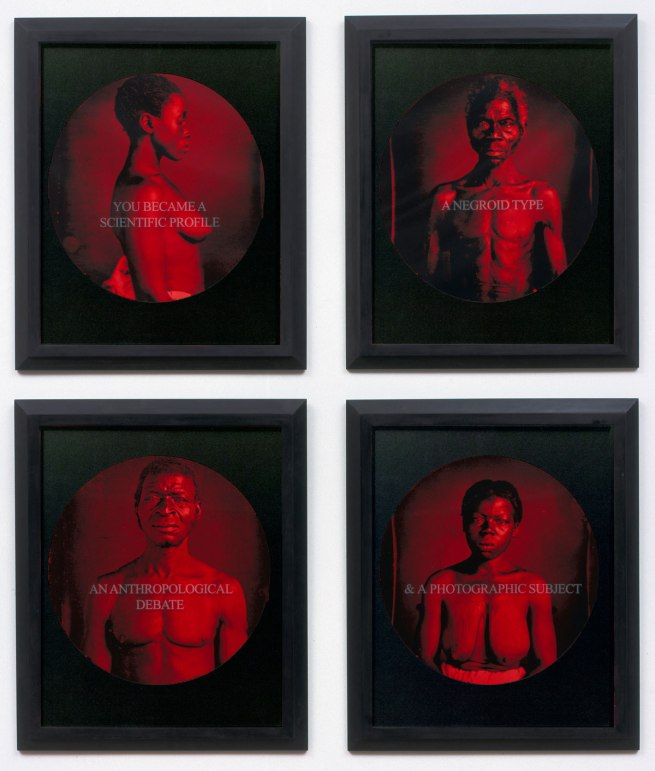Carrie Mae Weems. 'You Became a Scientific Profile / An Anthropological Debate / A Negroid Type / A Photographic Subject' 1995-1996