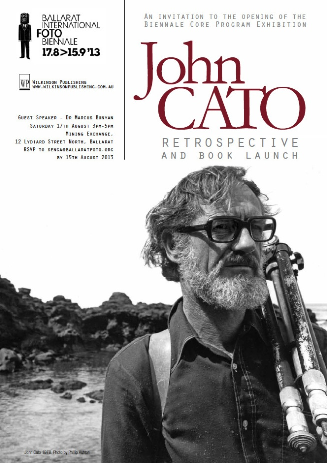 John Cato Retrospective opening and book launch invite