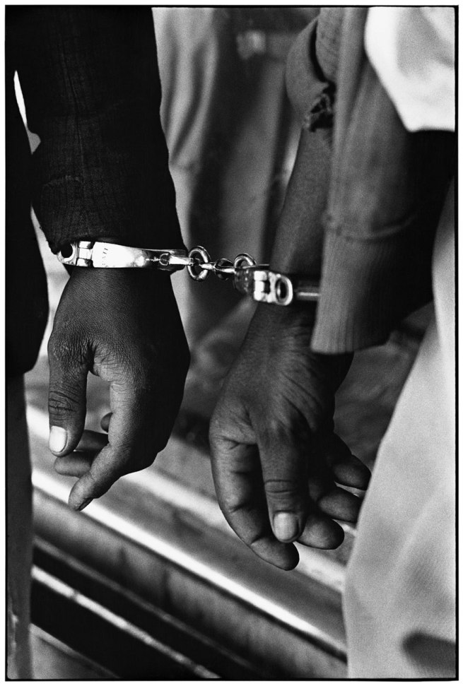 Ernest Cole (1940-1990) 'Handcuffed blacks were arrested for being in white area illegally' 1960-1966