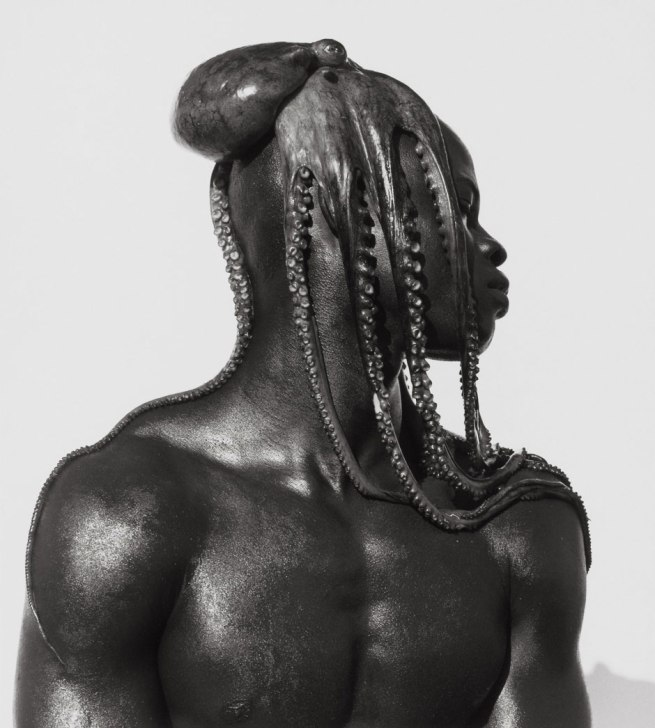 Herb Ritts (American, 1952-2002) 'Djimon with Octopus, Hollywood' 1989