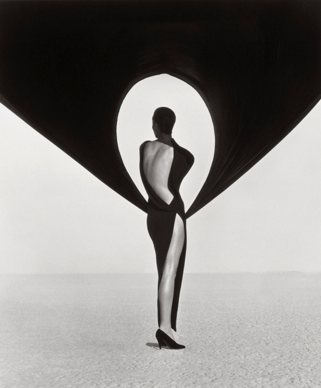 Herb-Ritts-Versace-Dress,-Back-View,-El-Mirage,-1990-WEB