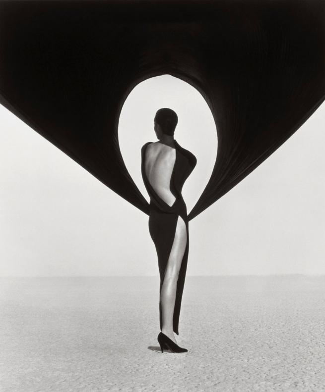 Herb-Ritts-Versace-Dress,-Back-View,-El-Mirage,-1990-WEB