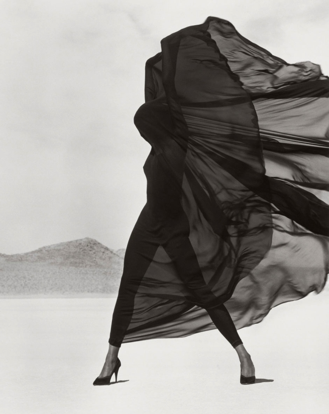 Herb Ritts (American, 1952-2002) 'Versace Veiled Dress, El Mirage' 1990