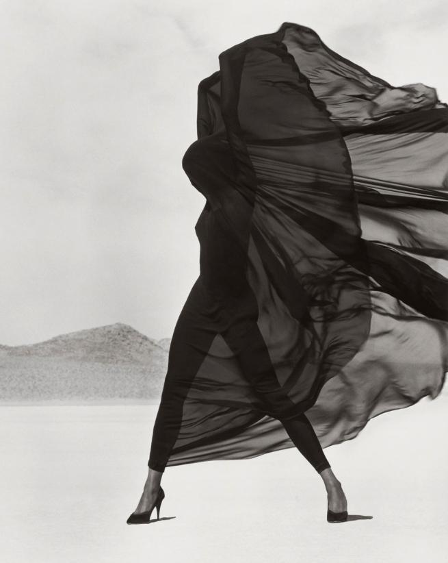 Herb Ritts (American, 1952-2002) 'Versace Veiled Dress, El Mirage' 1990