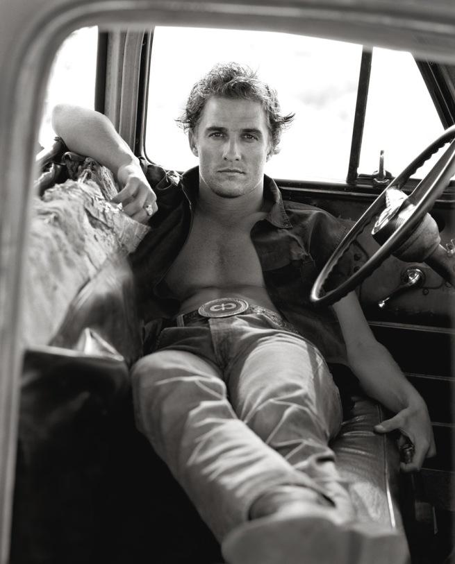 Herb Ritts (American, 1952-2002) 'Matthew McConaughey, Palmdale' 1996