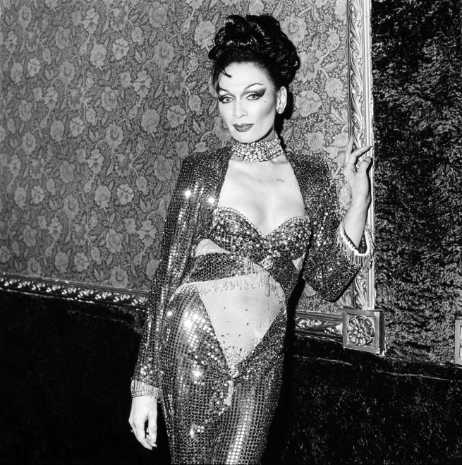 Polixeni Papapetrou. 'Drag queen wearing cut out dress' 1993