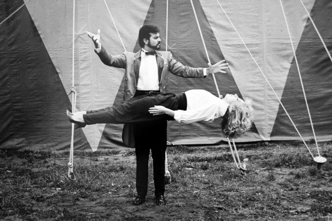 Polixeni Papapetrou. 'Levitation, Silvers Circus' 1989 (detail)