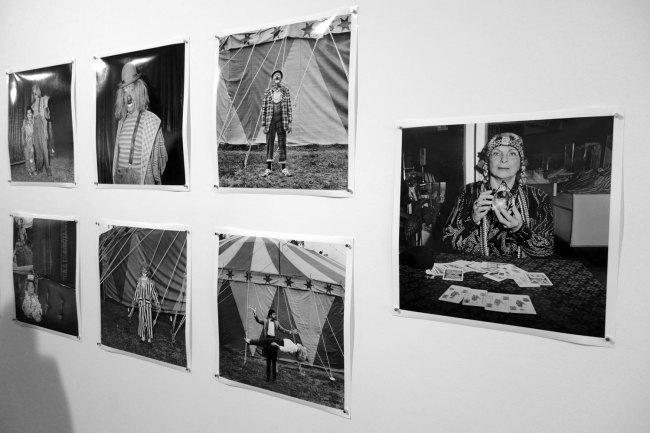 Polixeni Papapetrou 'Ashton Circus, Silvers Circus' series 1989-1990 (installation view)