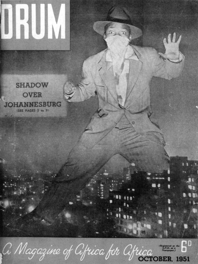 Drum magazine. 'Shadow over Johannesburg' October 1951