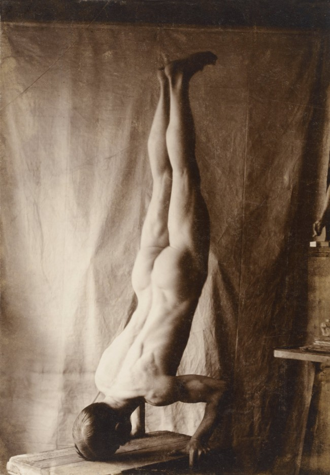Photographer unknown. 'Act of Headstand' Before 1905