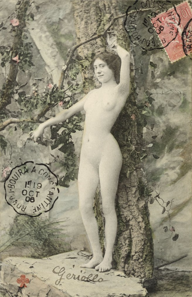 Photographer unknown. 'Postcard with Aktmotiv, stamped and postmarked' 1906