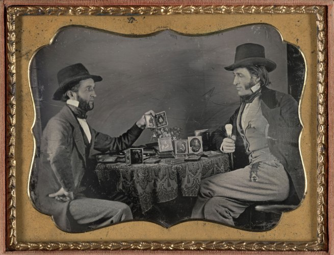 Unknown Maker (American) 'A Showing of Daguerreotypes' c. 1850