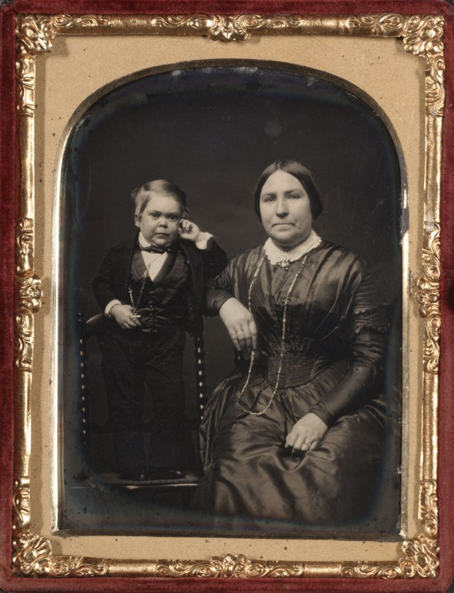 Unknown Maker (American) 'Tom Thumb and his Mother' c. 1850-55