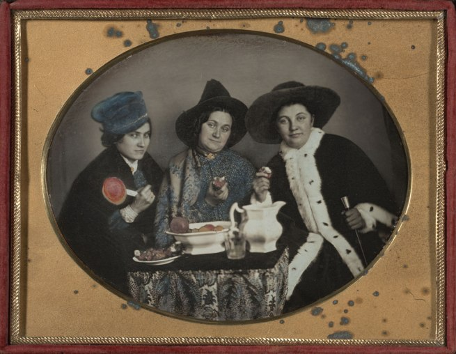 Unknown Maker (American) 'Three Lively Women' c. 1850