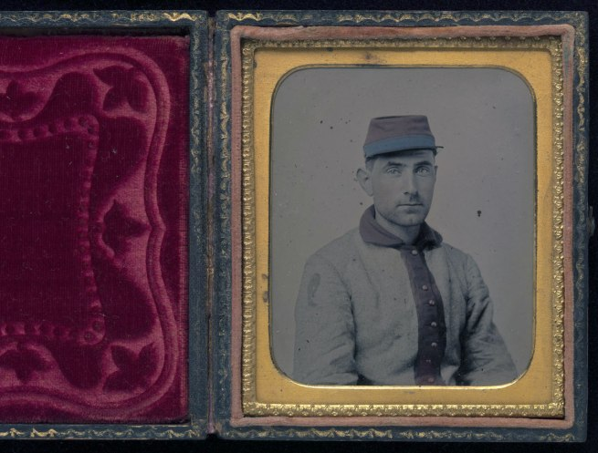 Unknown Artist. 'Union Private, 11th New York Infantry (Also Known as the 1st Fire Zouaves)' May-June 1861