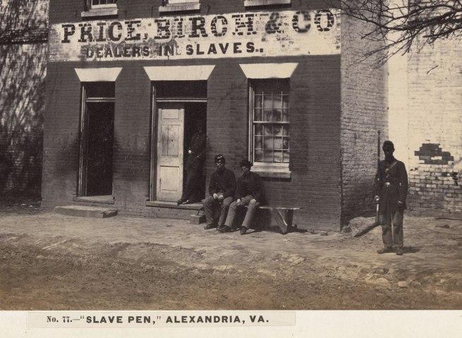 Andrew Joseph Russell (American, 1830-1902) 'Slave Pen, Alexandria, Virginia' 1863 (detail)