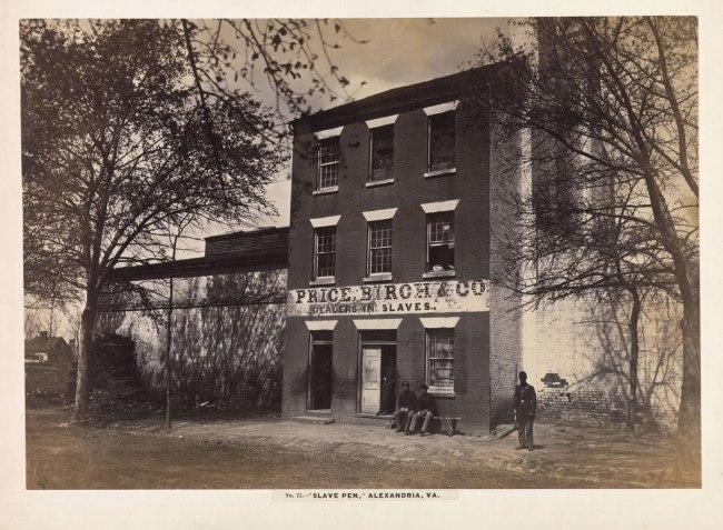 Andrew Joseph Russell (American, 1830-1902) 'Slave Pen, Alexandria, Virginia' 1863