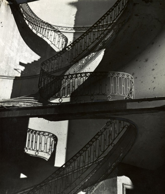 Bill Brandt (British, born Germany. 1904-1983) 'Bombed Regency Staircase, Upper Brook Street, Mayfair' c. 1942