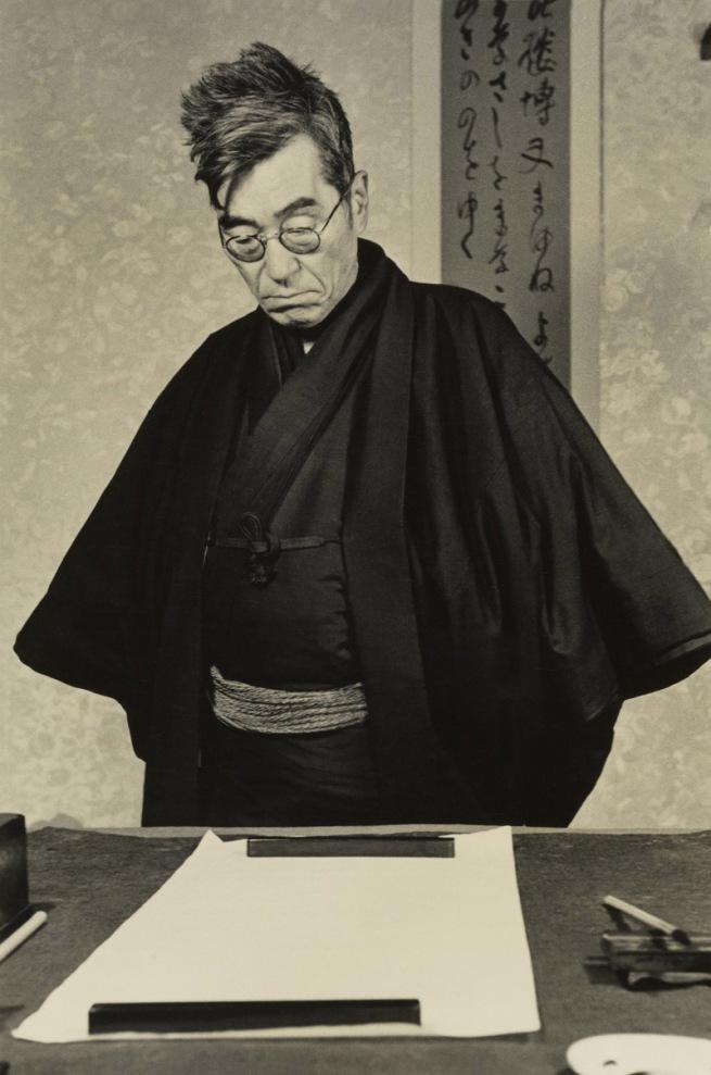 Hiroshi Hamaya (Japanese, 1915 - 1999) 'Yaichi Aizu, Poet, Calligrapher, and Japanese Art Critic' 1947