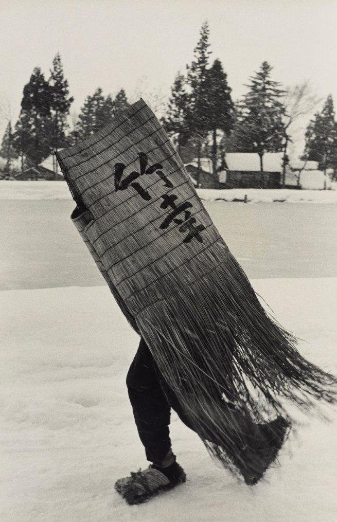 Hiroshi Hamaya (Japanese, 1915 - 1999) 'Man in a Traditional Minobashi Raincoat, Niigata Prefecture' 1956