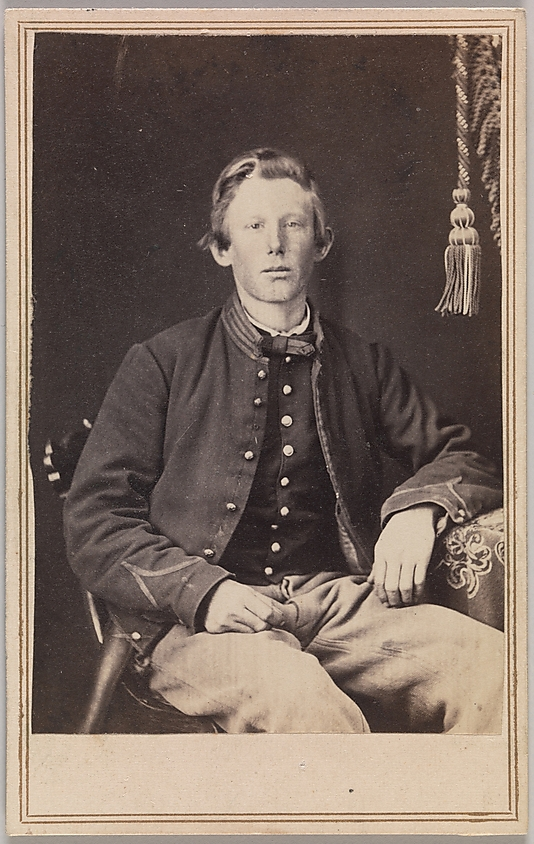 George Wertz (American, active Kansas City, Missouri, 1860s) 'Private William Henry Lord, Company I, Eleventh Kansas Volunteer Cavalry' 1863-65