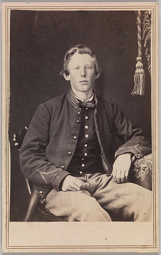 George Wertz (American, active Kansas City, Missouri, 1860s) 'Private William Henry Lord, Company I, Eleventh Kansas Volunteer Cavalry' 1863-65