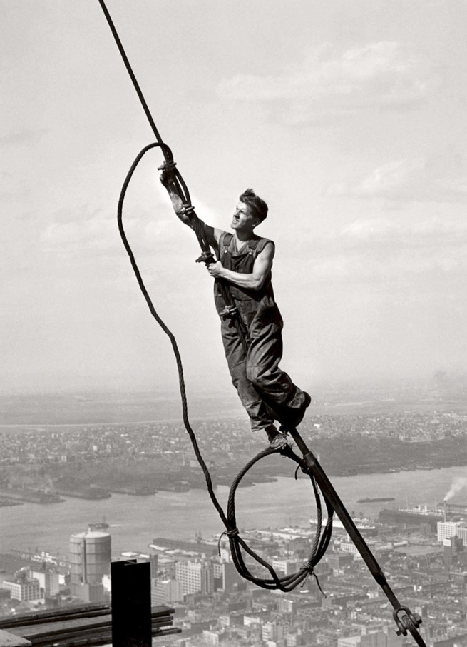 Lewis Hine. 'Icarus atop Empire State Building' 1931