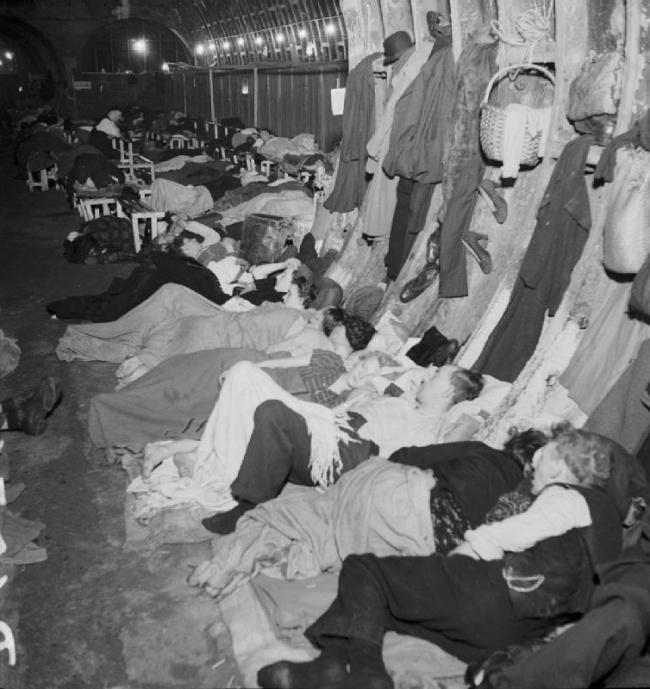 Bill Brandt (British, born Germany. 1904-1983) 'Liverpool Street Underground Station Shelter' 1940