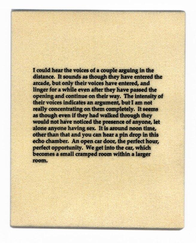 Lorna Simpson. 'The Car' (detail) 1995