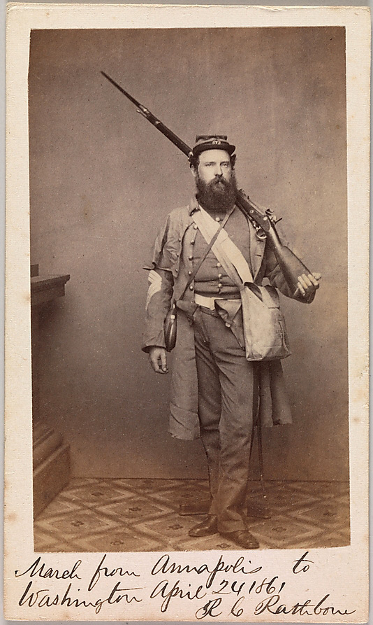 Unknown. 'March from Annapolis to Washington, Robert C. Rathbone, Sergeant Major, Seventh Regiment, New York Militia' April 24, 1861