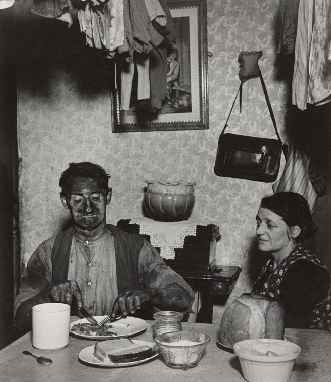 Bill Brandt (British, born Germany. 1904-1983) 'Northumbrian Miner at His Evening Meal' 1937