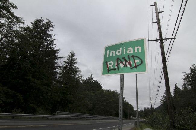 Nicholas Galanin. 'Indian Land' 2012