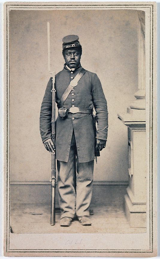 Gayford & Speidel (Active Rock Island, Illinois, 1860s) 'Private Louis Troutman, Company F, 108th Regiment, U.S. Colored Infantry' January-May 1865