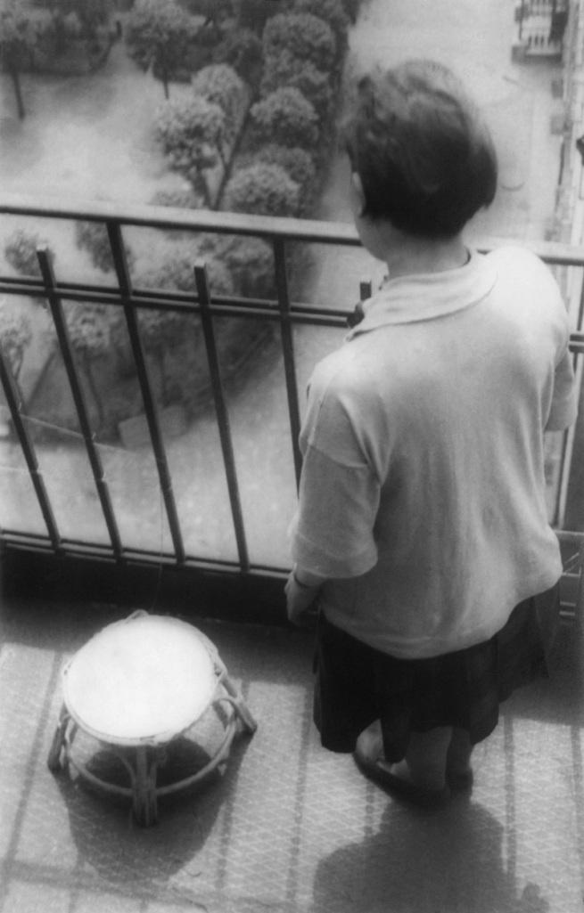 Alexander Rodchenko. 'Varvara Stepanova on a balcony' 1928