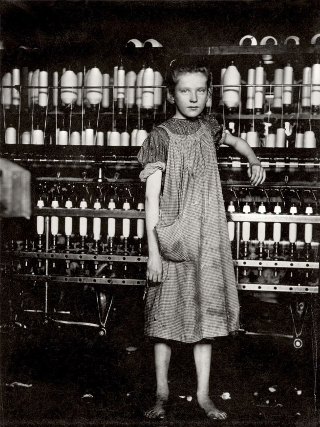 Lewis Hine. 'Spinner in New England mill' 1913