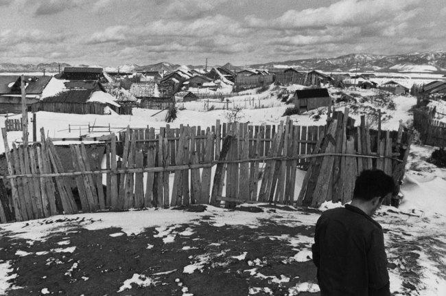 Hiroshi Hamaya (Japanese, 1915 - 1999) 'The Village up on a Cay, Aomori Prefecture' 1955